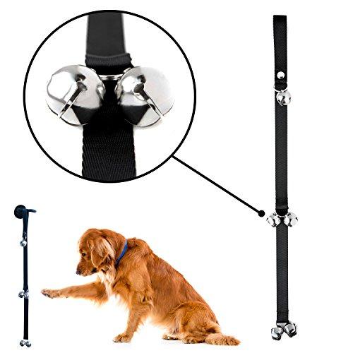 Mighty Paw Tinkle Glocken, Premium Qualität Türklingel für Hunde, Training und Erziehung Doggy Tür Glocken für Töpfchen Training, inkl. gratis Wandhaken