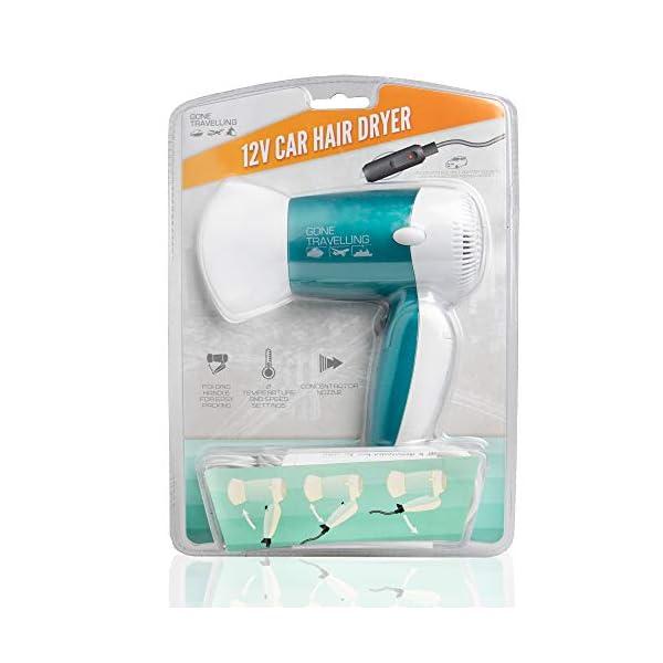 Gone Travelling Hair Dryer 12V 150W Car Hair Dryer - Folding Lightweight Travel Hairdryer - Concentrator Nozzle, 2… 6