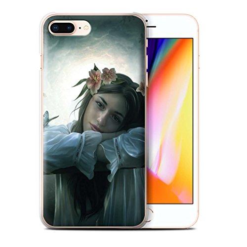 Officiel Elena Dudina Coque / Etui pour Apple iPhone 8 Plus / Reine des Forêts Design / Un avec la Nature Collection Rêveur