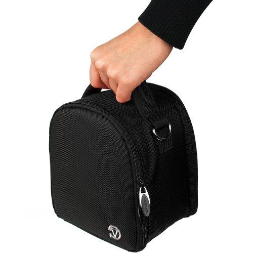VanGoddy Laurel Tragetasche für Panasonic LUMIX Serie Kameras, Onyx Black, One Size Digitale Slr-holster