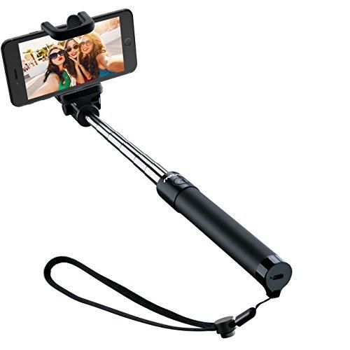 Mpow iSnap X U-Form Selfie Stange Erweiterbar Selfie-Stick mit integrierter Bluetooth Fernauslöser für IphoneX/8P/8/7P/7/6S/6/5S/IPHONE SE,Huawei Honor 8/9,Huawei P8/P10,Samsung S6/S7/S8/Galaxy A7,NUBIA Z11,OPPO R9,Redmi 4, MP3 Players usw. (Remote Erweiterbar)
