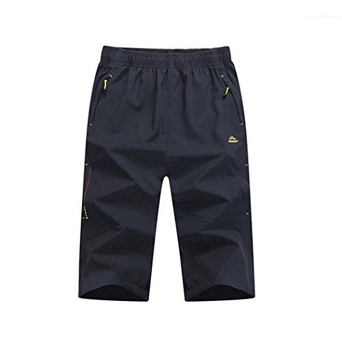 Walk-Leader Sportshorts, Herren, 3/4langes Bein, zum Wandern, schnell trocknend Gr. XX-Large, grau (Fleece-6-pocket Pant)