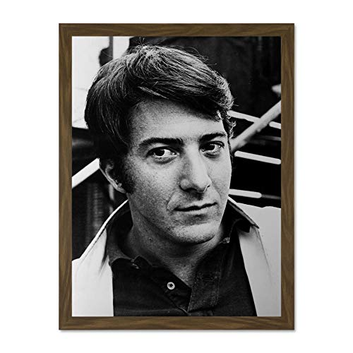 Doppelganger33 LTD Hollywood Publicity Shot Dustin Hoffman Wall Large Framed Art Print Poster Wall Decor 18x24 inch Supplied Ready to Hang