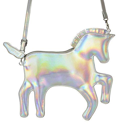 hchen Handtasche – Schönstes Geschenk für Kleine Mädchen – Feierliche & Lässige Schulter- und Handtasche (Silber) (Nette Make-up Ideen Für Kinder)