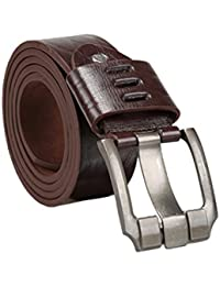 sourcingmap Men Argyle Embossed Single Prong Buckle 2inches Wide Adjustable Casual Belt