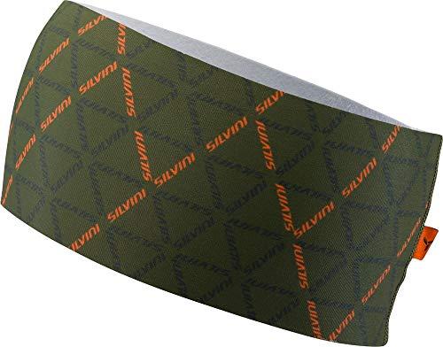 SILVINI Unisex Piave Stirnband aus Elastischem Werkstoff mit Leichter Isolierung für Aktiv Sport Grün - S/M - Elasthan Stretch-fleece-stirnband