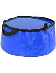 Sports de plein air pliable Lavabo Lavabo Footbath sac d'eau évier, Bleu