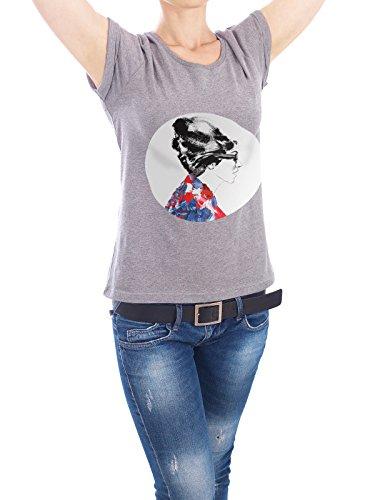 "Design T-Shirt Frauen Earth Positive ""Paris Fashion Darling I"" - stylisches Shirt Menschen Fashion von Sarah Plaumann Grau"