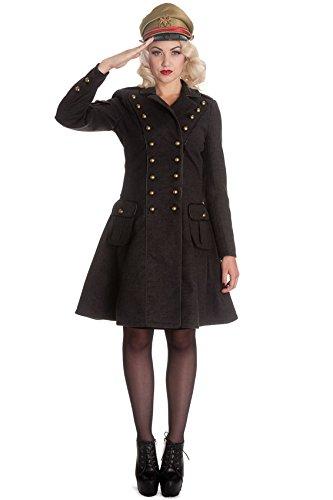 Appendiabiti, stile militare, sistemato di bottoni, Imma Coat, hell bunny nero 2XL