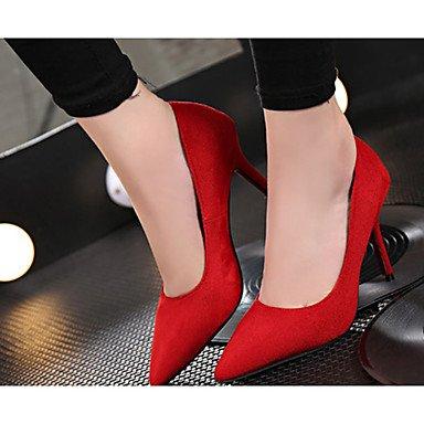 Moda Donna Sandali Sexy donna tacchi tacchi Estate Felpa casual Stiletto Heel altri nero / rosso / grigio altri Black