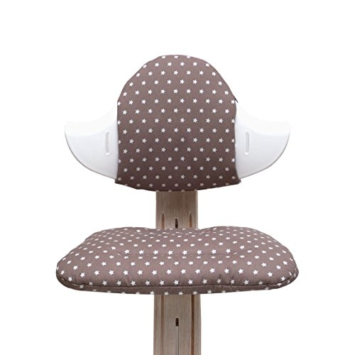 Blausberg Baby - Sitzkissen Set für Nomi Hochstuhl - taupe Stern