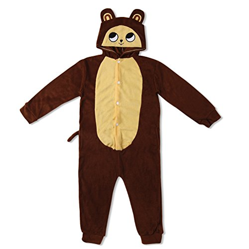 Kinder Fleece Onesie - Affen Kostüm 2 - -