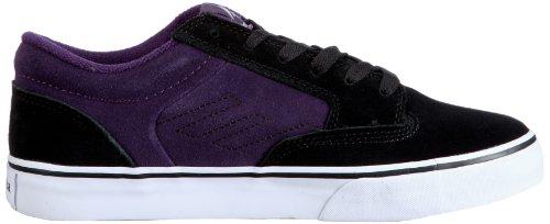 Emerica JINX 6101000065, Chaussures de skateboard mixte adulte Noir (noir/violet)