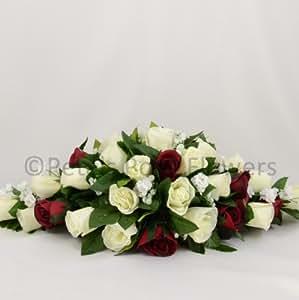 Artificielles-Bouquet de fleurs Fait main Petals Polly accord de TABLE Crème/ivoire/bordeaux