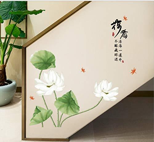 Fabelhafte Duft (Lotus Duft Moderne Chinesische Flur Veranda Schrank Schlafzimmer Wohnzimmer Tv Wanddekoration Wandaufkleber 60 Cm * 90 Cm)