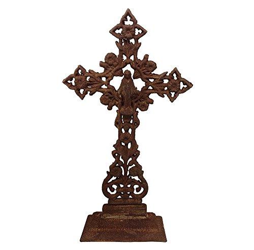 ix Kreuz Gusseisen Antik-Stil Kirche Grabmal Edelrost 65 cm (Heilig-kreuz-halloween)