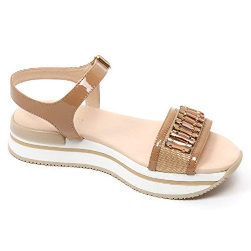 B7610 sandal scuro beige H257 sandalo scuro HOGAN scarpa woman gioiello donna shoe Beige rzZ7rxXqw