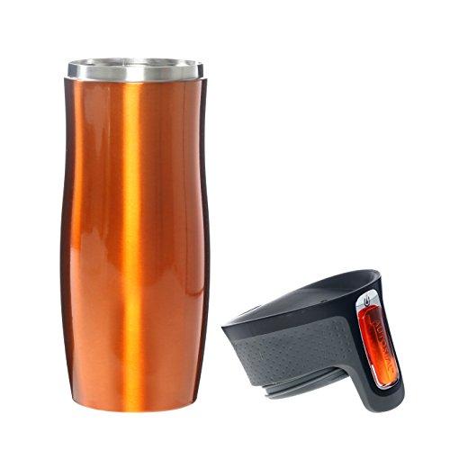 Contigo West Loop Gobelet de voyage isotherme Tangerine 470 ml Stainless Steel