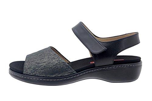 Komfort Damenlederschuh Piesanto 8807 sandale klettverschluss herausnehmbaren einlegesohlen bequem breit Carbón