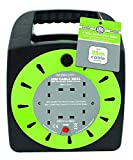 Invero® 25M - 4 Way Heavy Duty Cable 25 Meter Extension Reel Lead Mains Socket 13 Amp