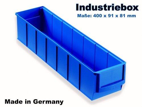 Preisvergleich Produktbild Industriebox 400x91x81 mm blau Lagerkasten Stapelkiste Lagerkiste Lagerbox Universalbox Kunststoffbox Kunststoffkiste Aufbewahrungskiste Universalkiste