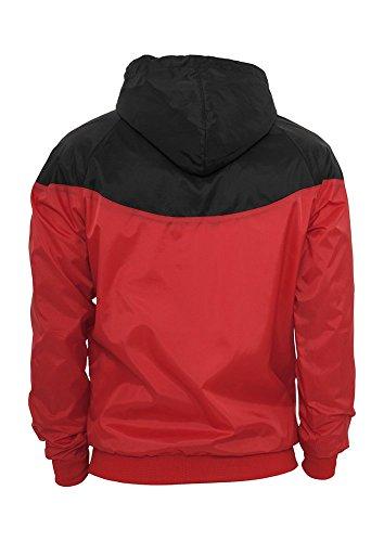 Urban Classics Herren Jacke Bekleidung Arrow Windrunner rot / schwarz