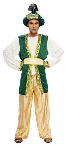 Imagen de disfraz sultan paje navidad adulto talla m/l