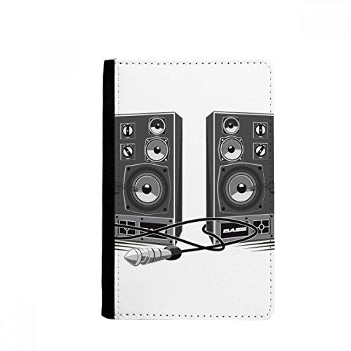 -Lautsprecher-Box-Muster-Pass-Halter Travel Wallet Abdeckungs-Fall Karten-Geldbeutel ()