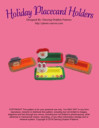 Holiday Placecard Holders: Plastic Canvas Pattern (English Edition) -
