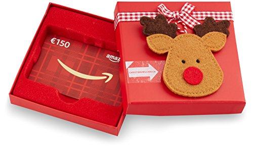 Amazon.de Geschenkkarte in Geschenkbox  - 150 EUR (Rentier)