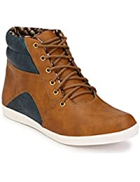 Wave Walk Men Trendy Synthetic Leather Boots - B01MXBS2H5