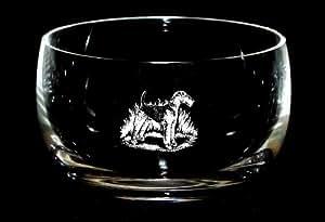 Airedale Terrier Bol en verre 12,5cm en cristal cadeau pour chien