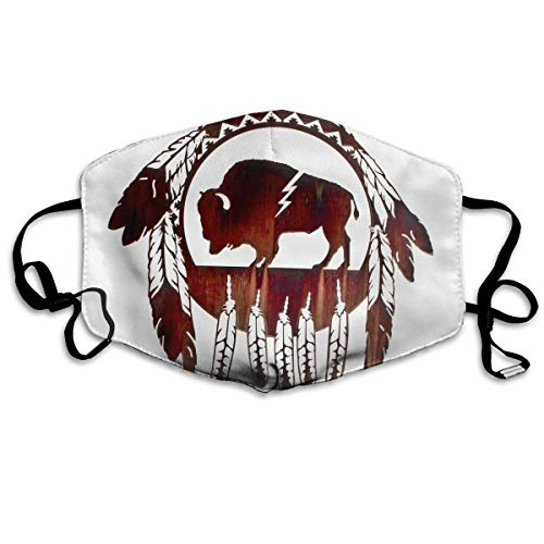 EighthStore Bison Buffalo Native American Printed Mouth Masks Unisex Anti-dust Masks Reusable Face Mask Mouth-Muffle Mund Maske -