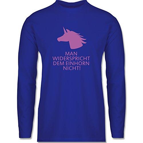 Nerds & Geeks - Einhorn - man widerspricht dem Einhorn nicht! - Longsleeve / langärmeliges T-Shirt für Herren Royalblau