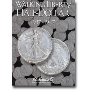 Harris Liberty Walking Half Dollars #2 Folder 1937-1947 #2694 by H.E. Harris