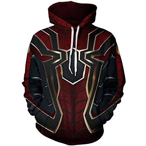 GBRALX Männer 3D-Druck Sweatshirts Cosplay Kostüm Avengers Endgame Hoodie Film Cosplay Halloween Outdoor Track Jacken,A-S