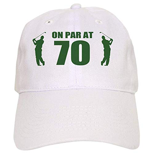 Osmykqe Golfer's 70Th Birthday - Baseball Cap with Adjustable Closure, Unique Printed Baseball Hat ABCDE06058