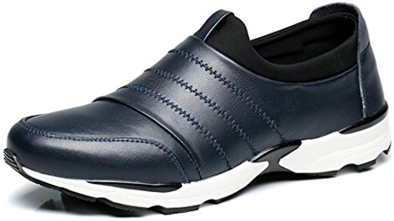 Herren Dicker Boden Martin Stiefel Werkzeugschuhe Schuhe erhöhen Mode Trainer Flache Schuhe Rutschfest Schutzfuß