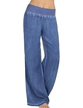 Cinnamou Pantalones Mujer Moda Elegantes 2018 Colombianos Plus size Cintura Alta Tallas Grandes Verano Boho Harén...