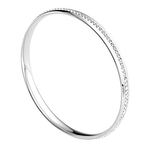 bracelet fin jonc en acier inoxydable