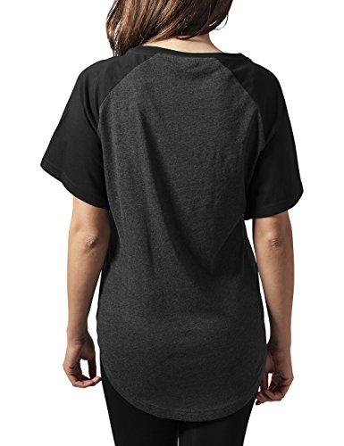 Urban Classics Damen T-Shirt Ladies Raglan Hilo Tee Mehrfarbig (cha/blk 314)