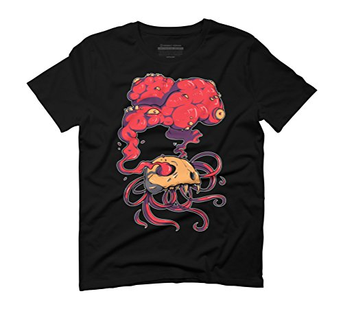 Skull and guts Men's Graphic T-Shirt - Design By Humans Black