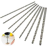 QLOUNI Juegos de 8cps HSS Broca de Taladro Extralargas de 200mm con diámetro de 4mm,4.2mm,4.5mm,5mm,5.2mm,6mm,8mm,10mm
