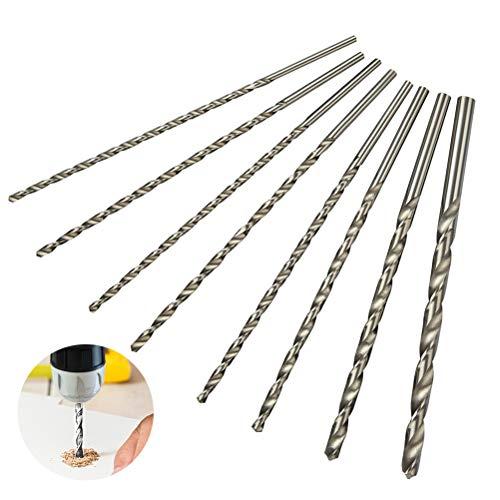 QLOUNI 8 Stück Spiralbohrer HSS Schlangenbohrer Set Lang Holzspiralbohrer Twist Drill Set mit Durchmesser 4mm / 4.2mm / 4.5mm / 5mm / 5.2mm / 6mm / 8mm / 10mm