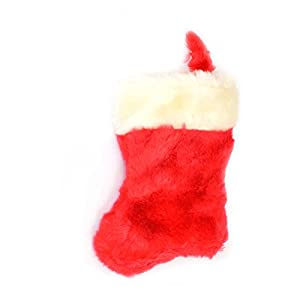 Gifts 4 All Occasions Limited SHATCHI-1068 - Calcetín navideño (terciopelo), diseño de Papá Noel, color rojo