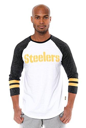 Icer Marken Erwachsene Herren L/S Tee W NFL Lange Ärmel Team Logo Raglan T-Shirt XL weiß -