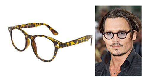 Pretty Smart Glasses Schildpatt VTG Frame Herren Frauen Clear Lens Depp Stil Gläser VTG 50 's Johnny