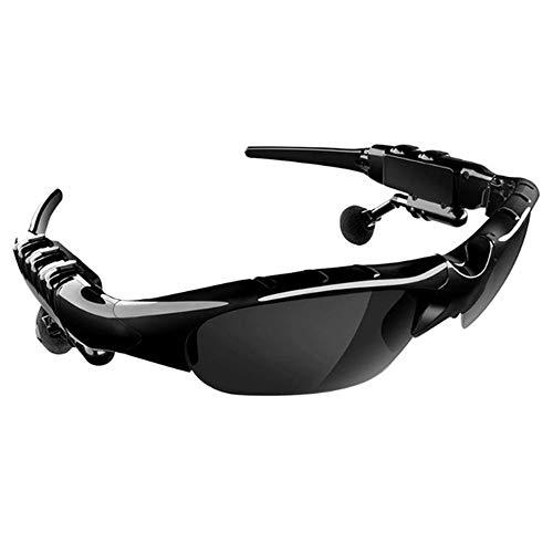 LYXLQ Kabelloser Bluetooth-Kopfhörer, Bluetooth-Sonnenbrillen-Kopfhörer, Stereo-Rauschunterdrückungs-Echo-Polarisationslinsen, geeignet für Männer und Frauen,Schwarz