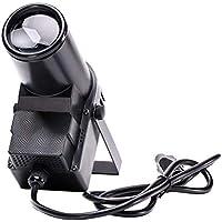 U`King Luz de Escena 30W Pinspot RGBW 6 Canales DMX512 Mini Portátil LED Luz Lámpara Beam Sonido Activado para Decoración de Hogar DJ Disco Party(Negro)