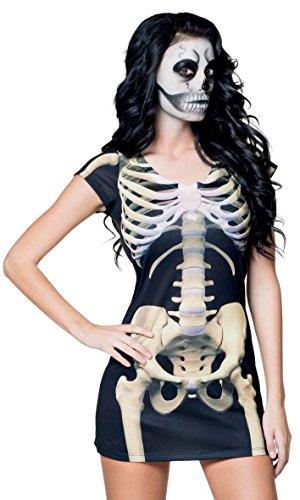 ealistisches Shirt Skelett Mädchen, Sonstige Spielwaren ()